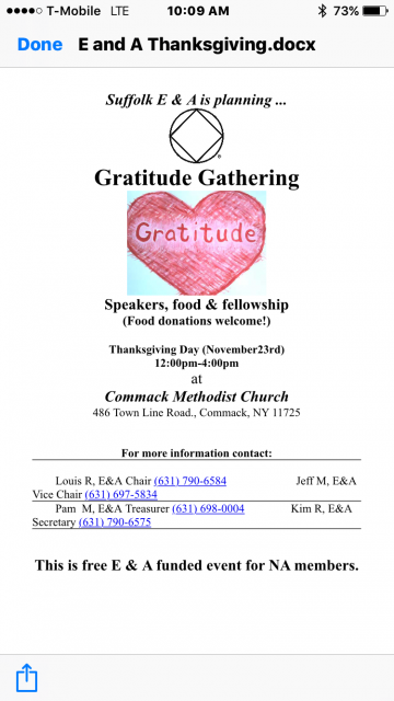 Gratitude Gathering @ Commack Methodist Church