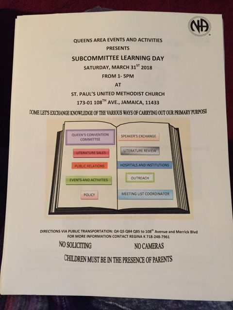 Queens Area - E&A Learning Day @ St. Paul's United Methodist Church