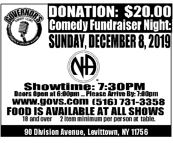 Queens Area Convention Committee Fundraiser @ Gouvenors Comedy Club