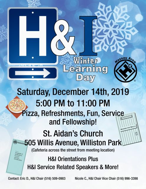 H&I Winter Learning Day 2019 @ St. Aidan's Church