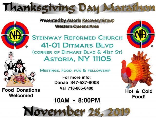 Thanksgiving Marathon Meetings @ Steinway Reformed Church