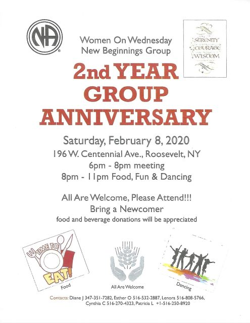 2nd Year Group Anniversary - Women on Wednesday