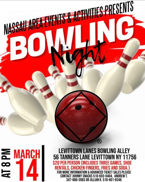 Bowling Night - Nassau Area E&A Event @ Levittown Lanes Bowling Alley